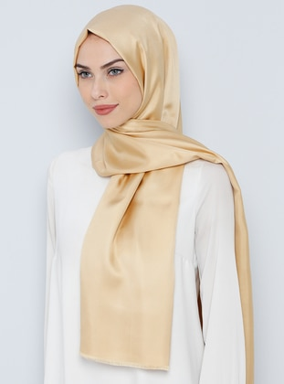 Golden tone - Plain - %100 Silk - Shawl
