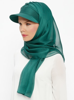 Green - Emerald - Plain - Instant Scarf