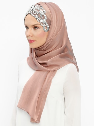 Powder - Dusty Rose - Plain - Pinless - Instant Scarf