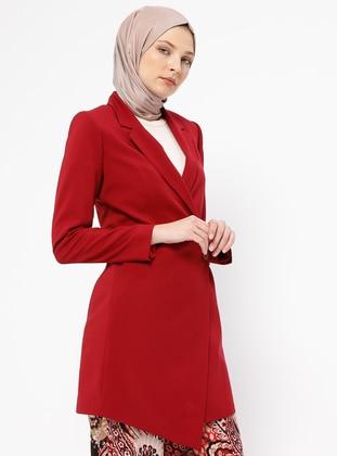 Maroon - Fully Lined - Shawl Collar - Jacket