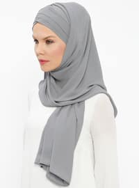 Gray - Plain - Instant Scarf