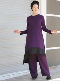 Purple - Unlined - Suit