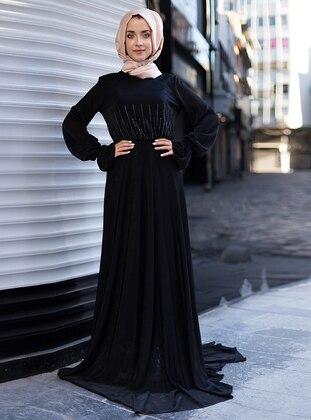 Black – Muslim Evening Dress – Mevra