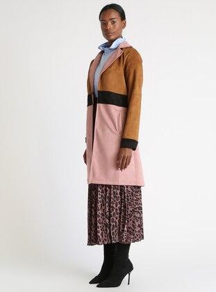 Brown - Powder - Unlined - Shawl Collar - Topcoat