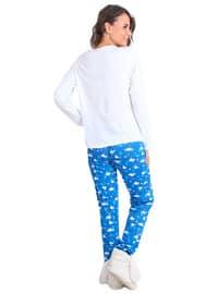 White - Crew neck - Multi - Pyjama