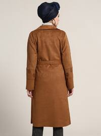 Brown - Unlined - Shawl Collar - Topcoat