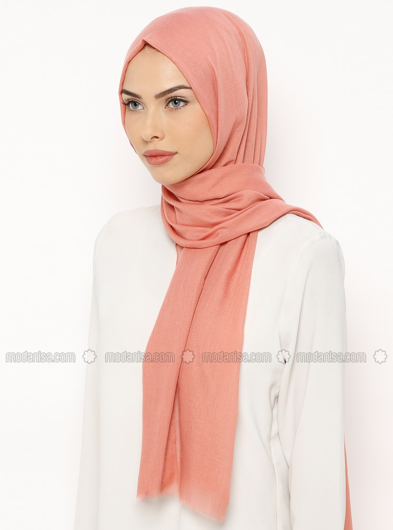 Salmon - Plain - Shawl