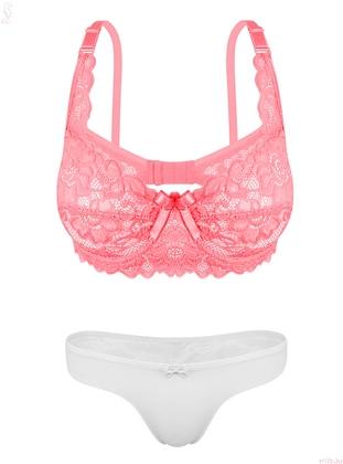 White - Pink - Bra