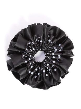 Saten Topuz Tokası - Siyah - Mervin Şal Ürün Resmi