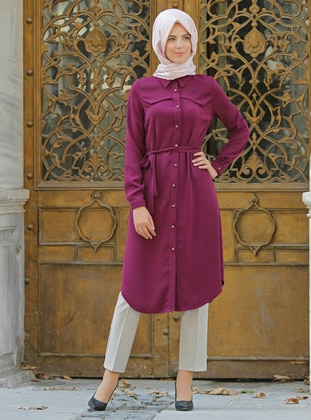 Plum - Point Collar - Tunic