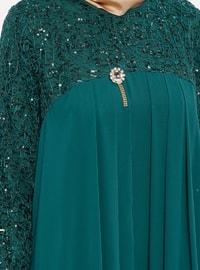 Green - Unlined - Crew neck - Muslim Evening Dress