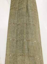 Khaki - Plain - Cotton - Shawl
