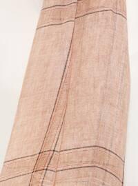Salmon - Striped - Cotton - Shawl