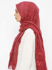 Cherry - Floral - Cotton - Shawl