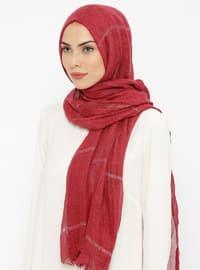 Cherry - Striped - Cotton - Shawl