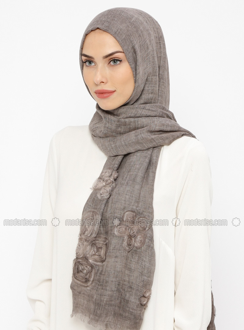 Minc - Floral - Cotton - Shawl