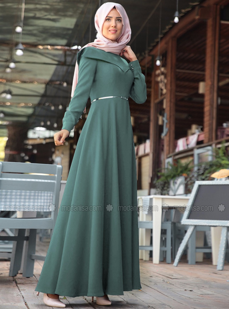 Mint - Crew neck - Fully Lined - Dresses