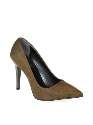 Khaki - High Heel - Shoes