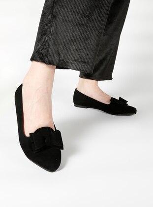 Black – Casual – Flat Shoes – Bambi