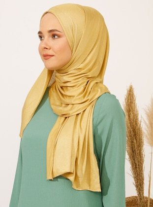 Golden tone - Plain - Pinless - Viscose - Shawl