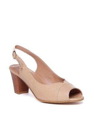 Beige - High Heel - Casual - Shoes - Deripabuç