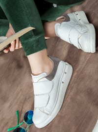 White - Anthracite - Sport - Sports Shoes
