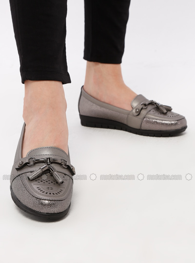 Smoke-coloured - Casual - Shoes
