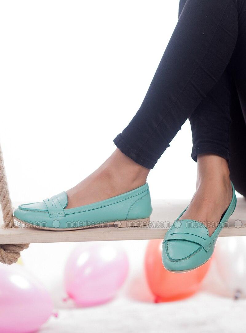 5755becf6de Mint - Flat - Flat Shoes. Fotoğrafı büyütmek için tıklayın