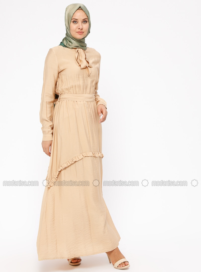 Camel - Polo neck - Fully Lined - Dresses