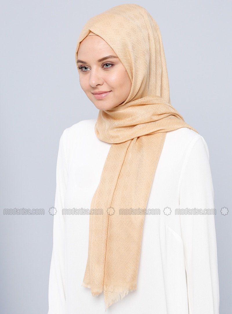 Golden tone - Printed - Shawl