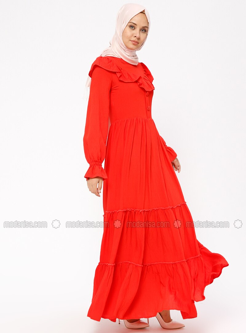 Coral - Crew neck - Fully Lined - Dresses