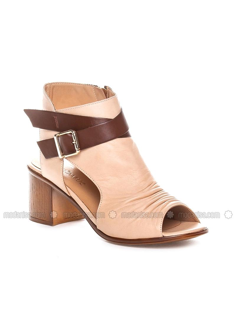 Beige - High Heel - Sandal - Sandal