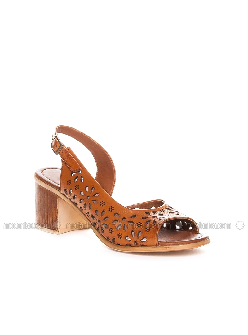 Tan - High Heel - Sandal - Sandal