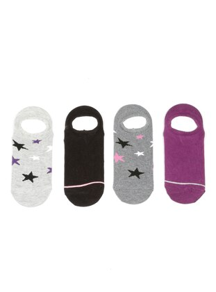 Purple - Smoke-coloured - Socks