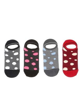 Red - Smoke-coloured - Socks