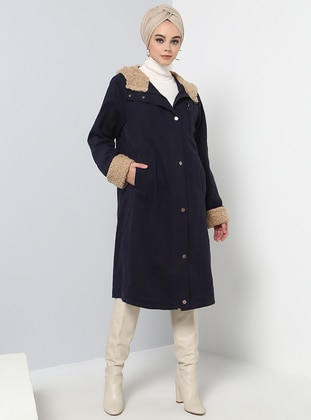 Navy Blue - Fully Lined - Puffer Jackets - Benin