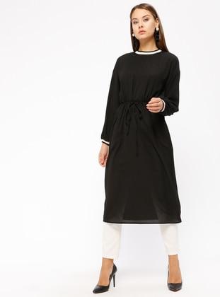 Ribana Detaylı Tunik - Siyah - İkoll Ürün Resmi
