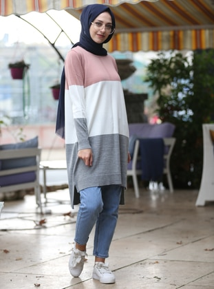 Powder - Crew neck -  - Tunic - İnşirah
