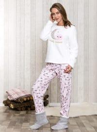 Pink - Crew neck - Multi - Pyjama