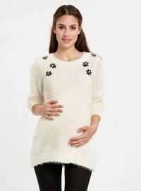 Ecru - Maternity Blouses Shirts