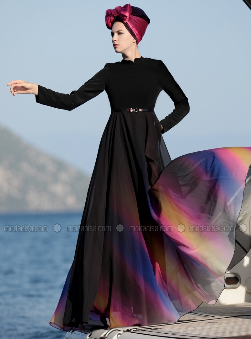 Black - Multi - Crew neck - Fully Lined - Black - Multi - Crew neck - Fully Lined - Black - Multi - Crew neck - Fully Lined - Dresses
