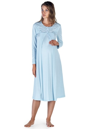 Blue – Crew Neck – Nightdress – Artis Collection