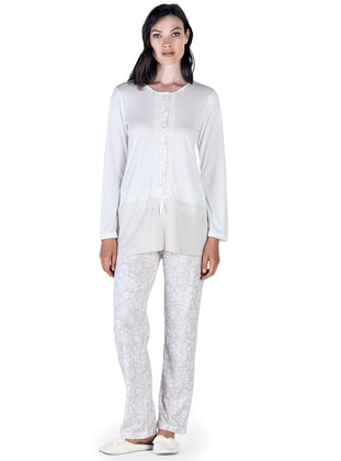 Beige – Crew Neck – Multi – Pyjama – Artis Collection