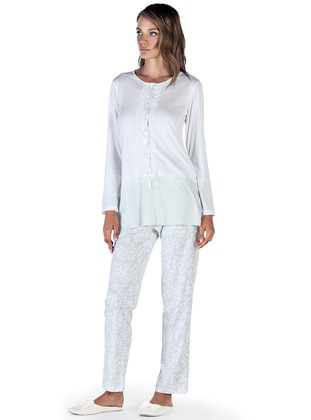 Green – Crew Neck – Multi – Pyjama – Artis Collection