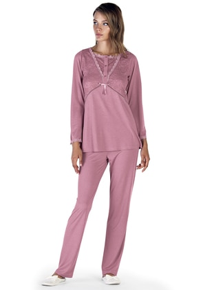 Dusty Rose – Crew Neck – Pyjama – Artis Collection