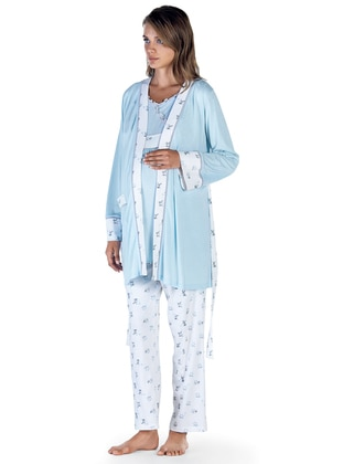 Blue - Morning Robe - Artış Collection