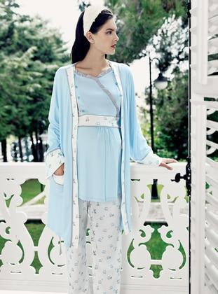 Blue - Morning Robe - Artış Collection