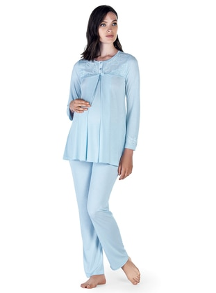 Blue – Crew Neck – Pyjama – Artis Collection