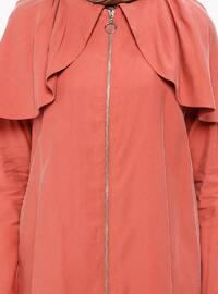 Terra Cotta - Unlined - Crew neck - Topcoat