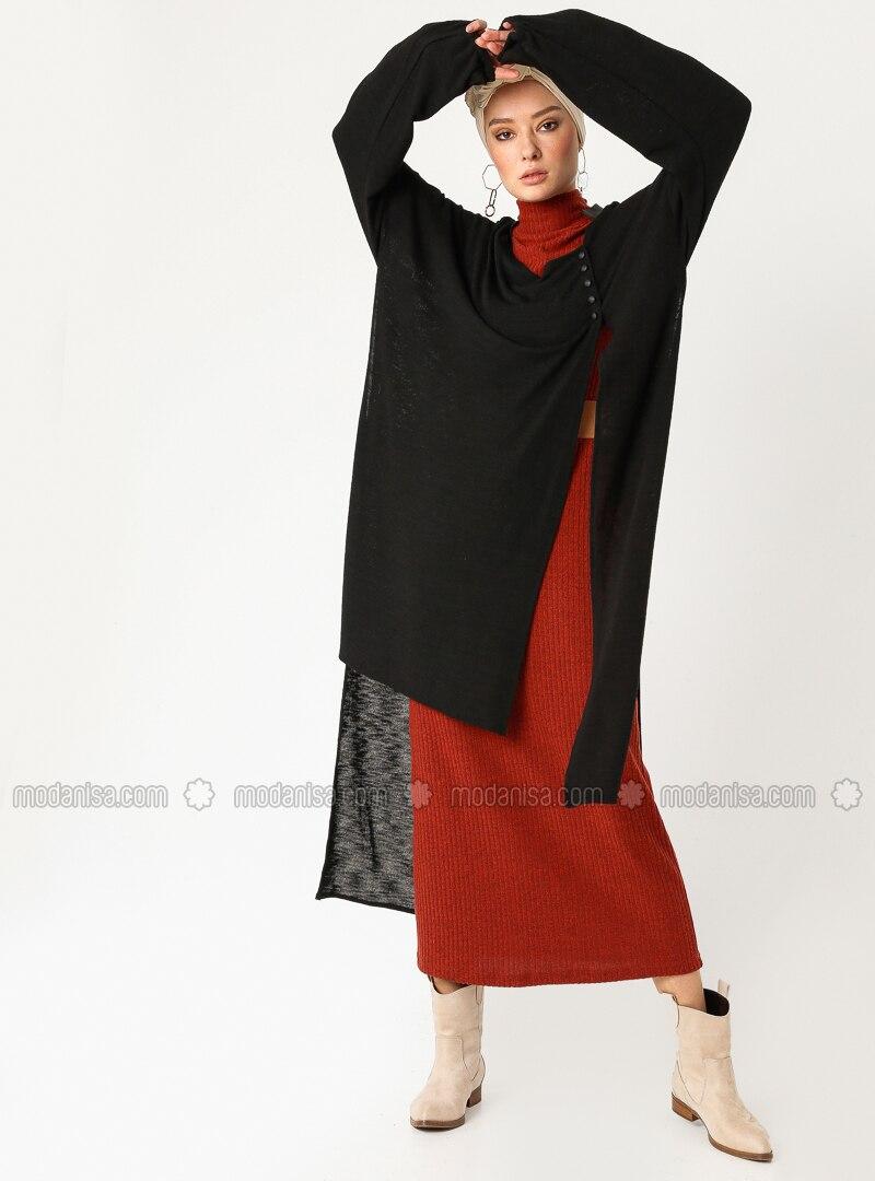 cbc98e456f0 Black - Plus Size Cardigan. Fotoğrafı büyütmek için tıklayın